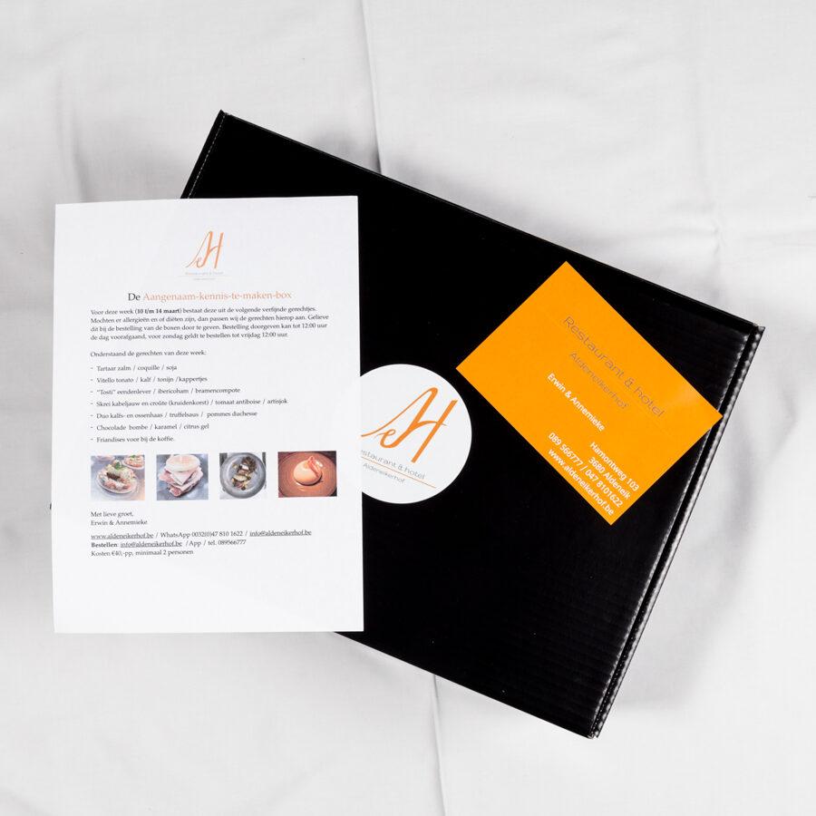 Kennismakingsbox, wekelijks nieuwe verrassende gerechten (prijs pp)